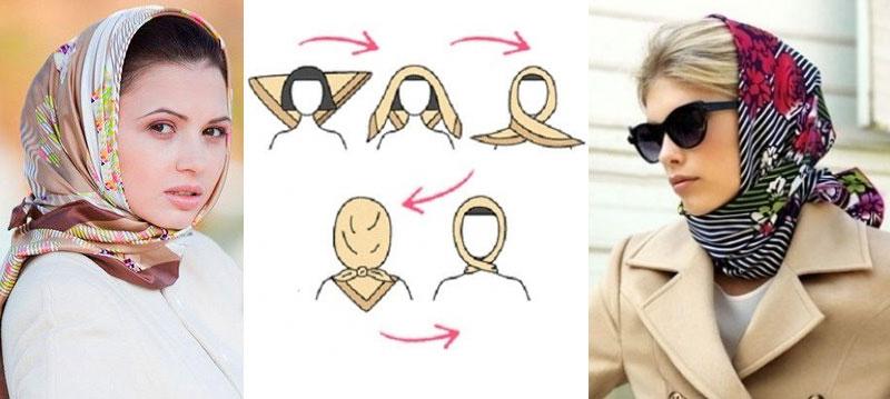 завязать платок на голове варианты