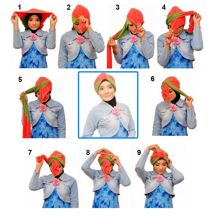 как завязать косынку на голове фото пошаговое партии